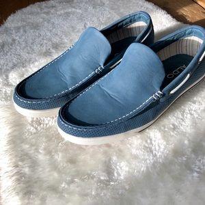 ALDO Blue Leather Slip On Boat Shoes